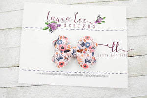 Mini Sasha Style Bow || Adley Floral Vegan Leather