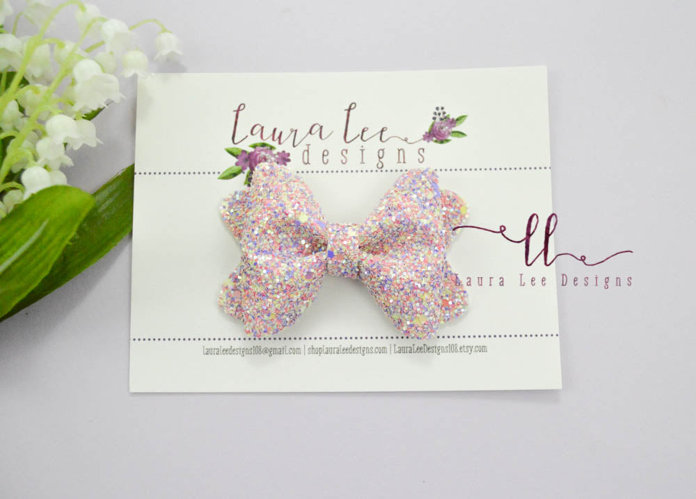 Sasha Style Bow || All Things Spring Glitter