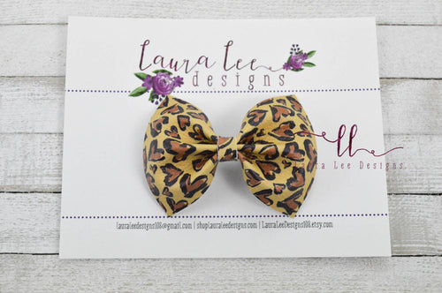 Bonnie Bow Style || Heart Leopard Vegan Leather