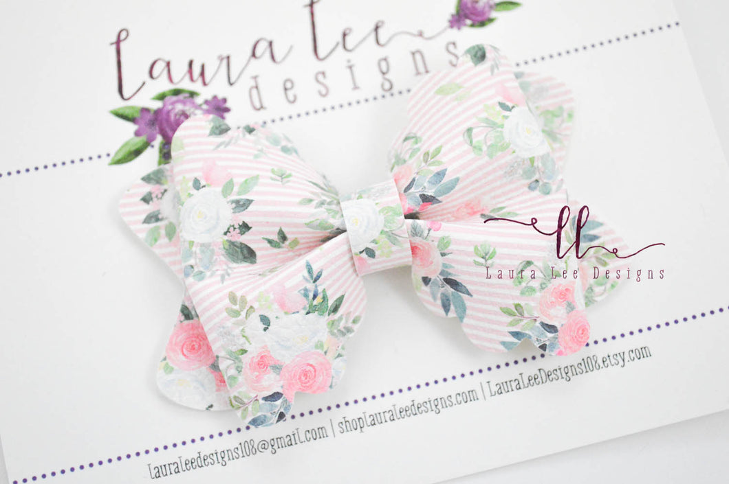 Margo Bow Style || Addy Floral Vegan Leather