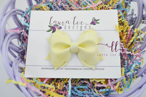 Molly Bow Style || Yellow Aged Shimmer Vegan Leather