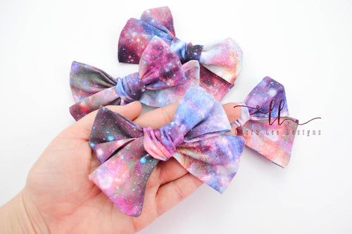 Mini Sasha Style Bow || Lavender Solid Smooth Vegan Leather