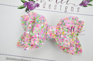 Stacked Winnie Bow Style || Spring in Bloom Glitter