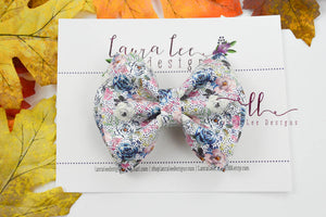 Millie Bow Style || Chic Floral Vegan Leather