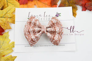 Millie Bow Style || Fawn Spots Vegan Leather