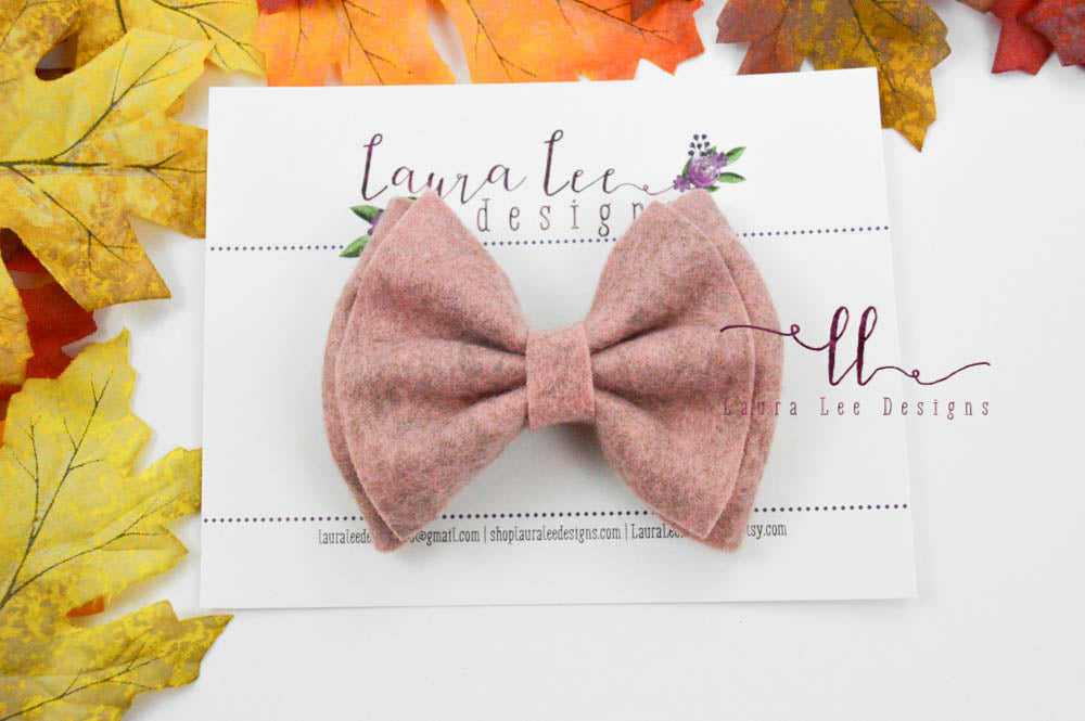 Millie Bow Style || Rosewood Wool Blend Felt