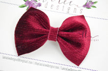 Bonnie Bow Style || Deep Red with Metallic Stripes