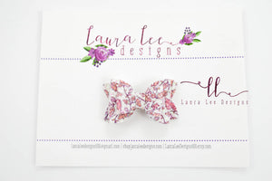 Stacked Pippy Style Bow || Autumn Leaves Glitter Mini Bow