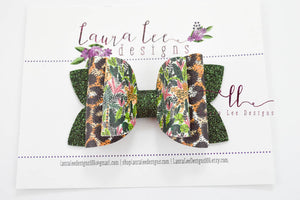 Stacked Izzy Style Bow || Cheetahs in the Jungle