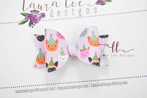 Mini Sabrina Style Bow || Party Kitties Vegan Leather