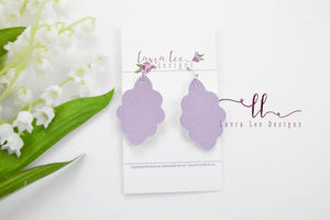Small Lola Earrings || Lavender Solid Smooth Vegan Leather