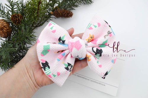Large Julia Messy Bow Style Bow || Stocking Kitties