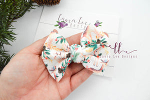 Small Julia Messy Bow Style Bow || Woodland Christmas