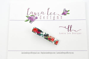 Acrylic Sugar Clip || Christmas Floral Alligator Clips