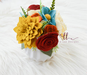 Felt Flower Arrangement || Home Decor