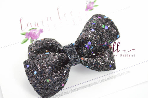 Nea Bow Style || Black Magic Glitter