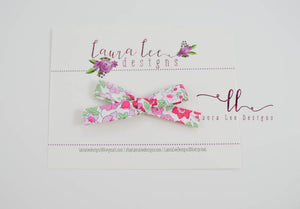 Timber Bows || Handtied Fabric Bow || Floral Timber Bow Style