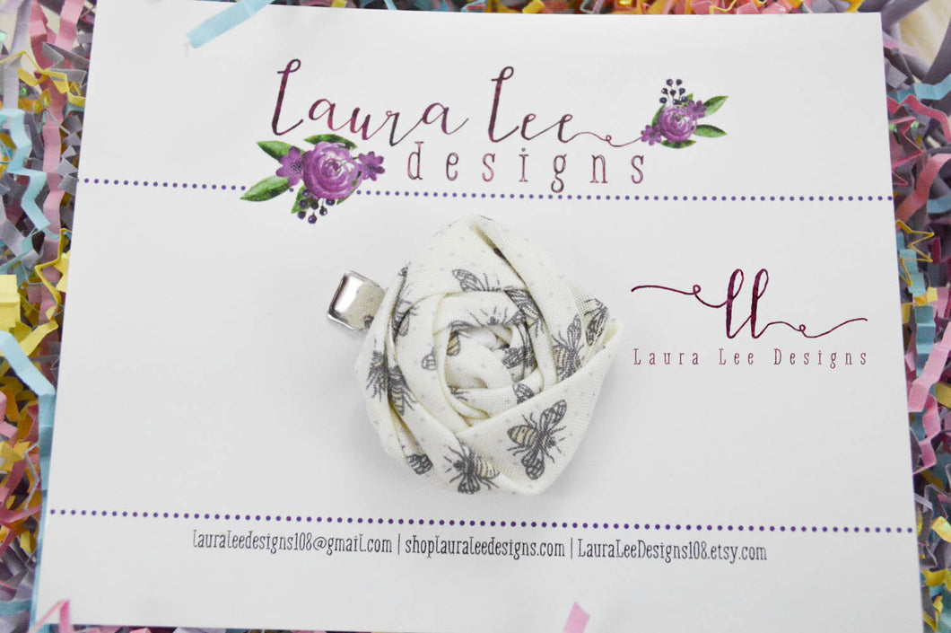 Rolled Flower Hair Clip || Bees