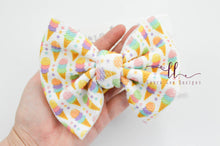 Large Julia Messy Bow Style Bow || Icecream Cones