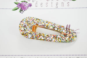 Elegant Alligator Clip || Easter Glitter Triangle Alligator Clip