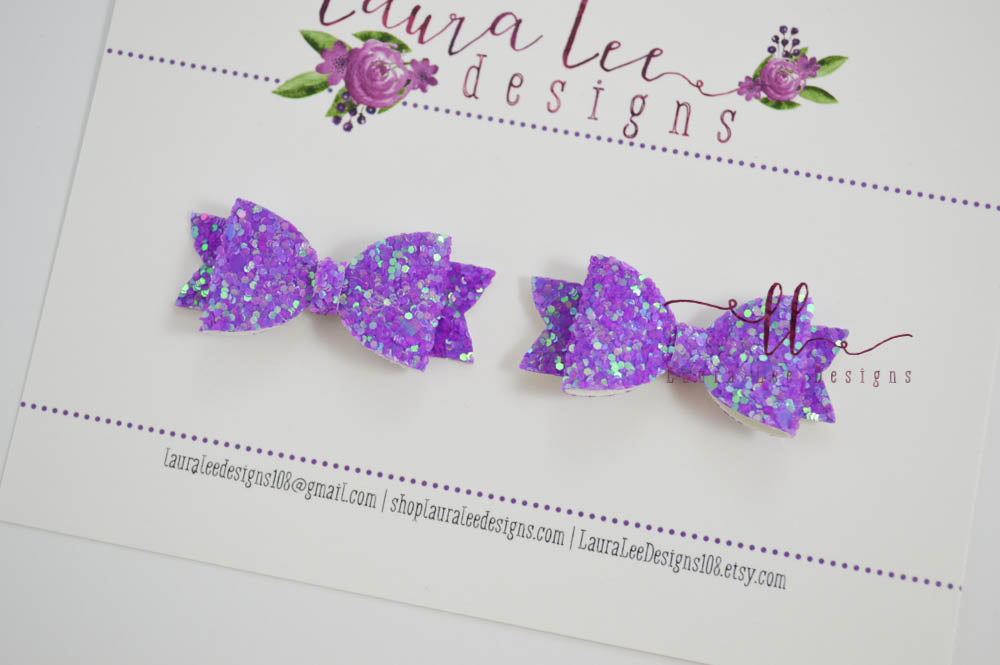 Pixie Style Pigtail Bow Set || Poisonberry Glitter