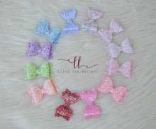 Winnie Style Bow || Sequin Glitter Bow || Choose Color