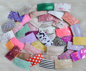 Snap Clip Grab Bag || Rectangle Snap Clips || Glitter or Faux Leather || Randomly Chosen Snap Clip