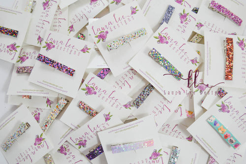 WHOLESALE || Sugar Clip Grab Bag || Alligator Clips || Glitter or Faux Leather || Randomly Chosen Snap Clip
