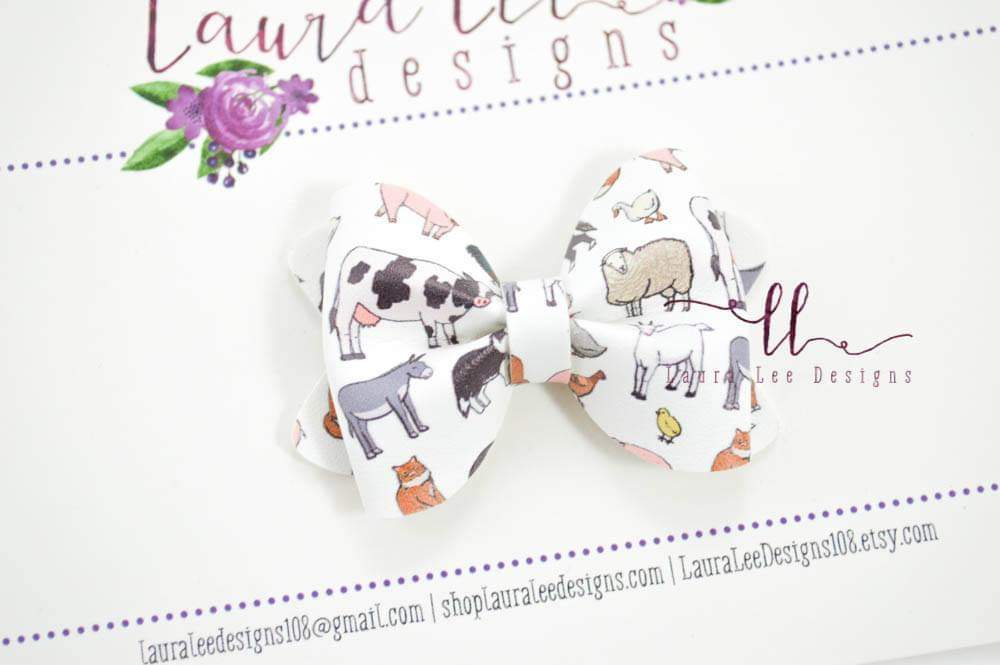 Mini Sasha Style Bow || Farm Animals