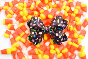 Sasha Style Bow || Halloween Candy Vegan Leather
