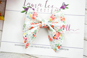 Marlee Bow Style || Desi Floral Vegan Leather