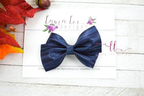 Nea Bow Style || Blueberry Shimmer Stripes