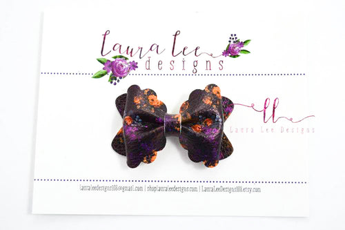Mini Scalloped Margo Style Bow || Haunted Floral