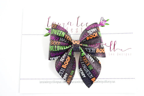 Marlee Bow Style || Halloween Words