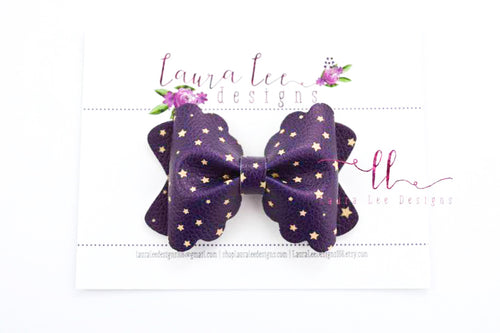 Scalloped Margo Style Bow || Starry Night