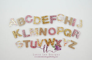 Alphabet Set || Unicorn Magic || Pink and Gold