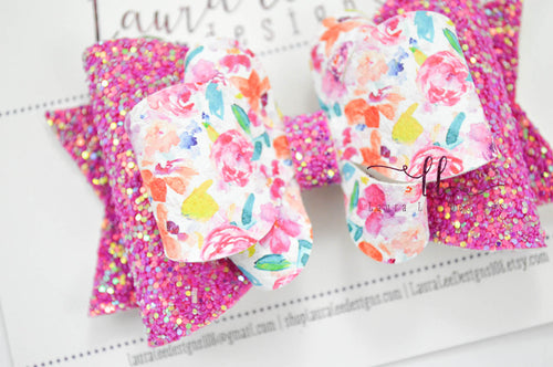 Large Amelia Bow Style || June Floral