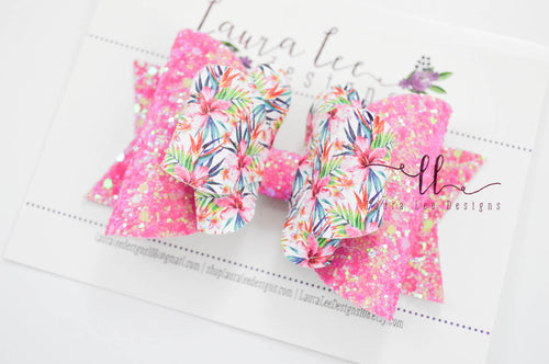 Large Amelia Bow Style || Tropical Floral