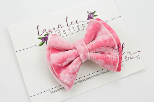 Millie Bow Style || Bubblegum Pink Crushed Velvet