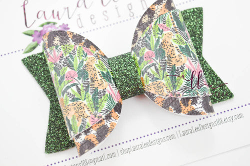 Annie Style Bow || Cheetahs in the Jungle