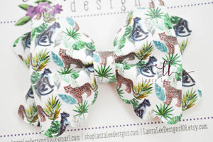 Margo Bow Style || Exotic Cats Vegan Leather