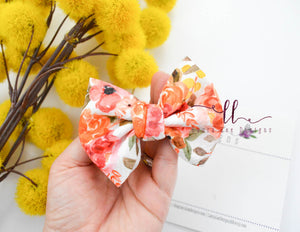 Small Julia Messy Bow Style Bow || Fall Floral