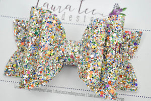 Stacked Rosie Style Bow || Fall Treasure Glitter
