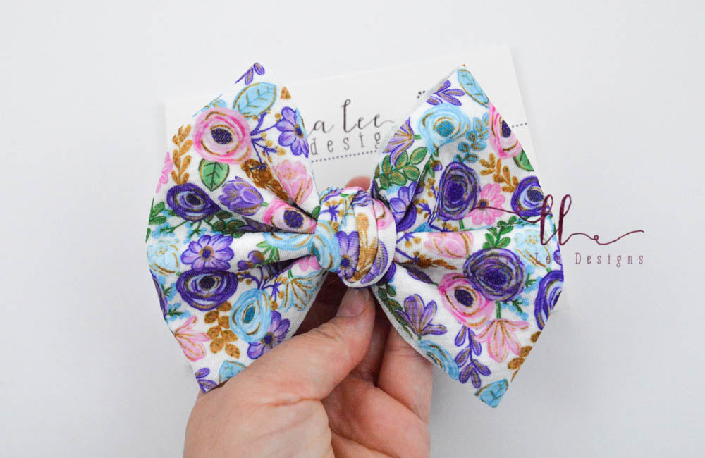 Large Julia Messy Bow Style Bow || Floral