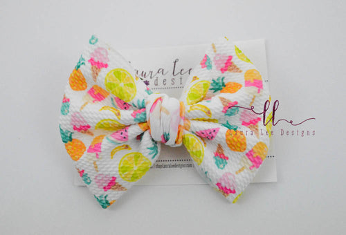 Large Julia Messy Bow Style Bow || Fruit Toss
