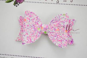 Mini Sabrina Style Bow || Girl Power Glitter
