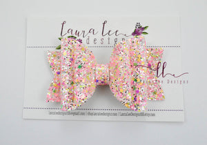 Stacked Rosie Style Bow || Glam Girl Glitter