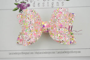Stacked Izzy Style Bow || Glam Girl Glitter