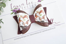 Annie Style Bow || Horse Play Vegan Leather and Glitter