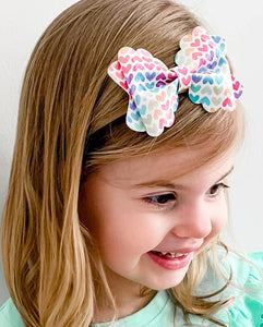 Izzy Stacked Style Bow || Fame Glitter Bow